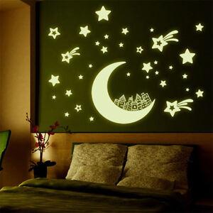 4-Style-Luminous-Wandtattoo-Aufkleber-Glow-Dark-Wall-Aufkleber-Aufkleber-Home