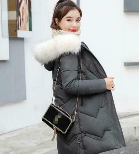 2019 Women winter coat Down jacket Ladies fur hooded jackets Long puffer parka