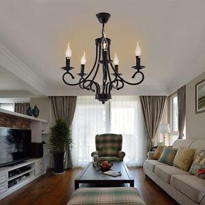 Lampada-da-soffitto-pendente-cristallo-moderno-Lampadario-elegante-nero