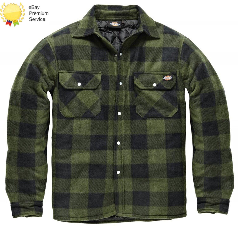 Uomo DICKIES Portland Workwear da lavoro imbottito Camicia casual SH5000 verde