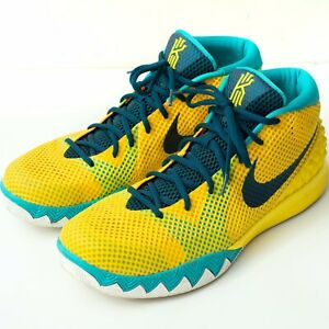 cheap for discount b2ff0 09841 Details about NIKE Kyrie 1 Letterman Yellow/Teal Mens Size 14
