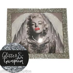 Glitter frame tattoo marilyn monroe glitter crystals for Marilyn monroe tattoo canvas