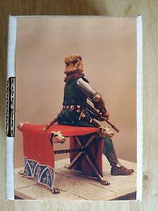 Figurine Vintage En Plomb Somov  début Xivéme Siécle  jeune Chevalier À La Veille