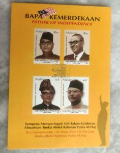 Malaysia 2003 Bapa Kemerdekaan Tunku Abdul Rahman Maxima Stamp Post Card MINT