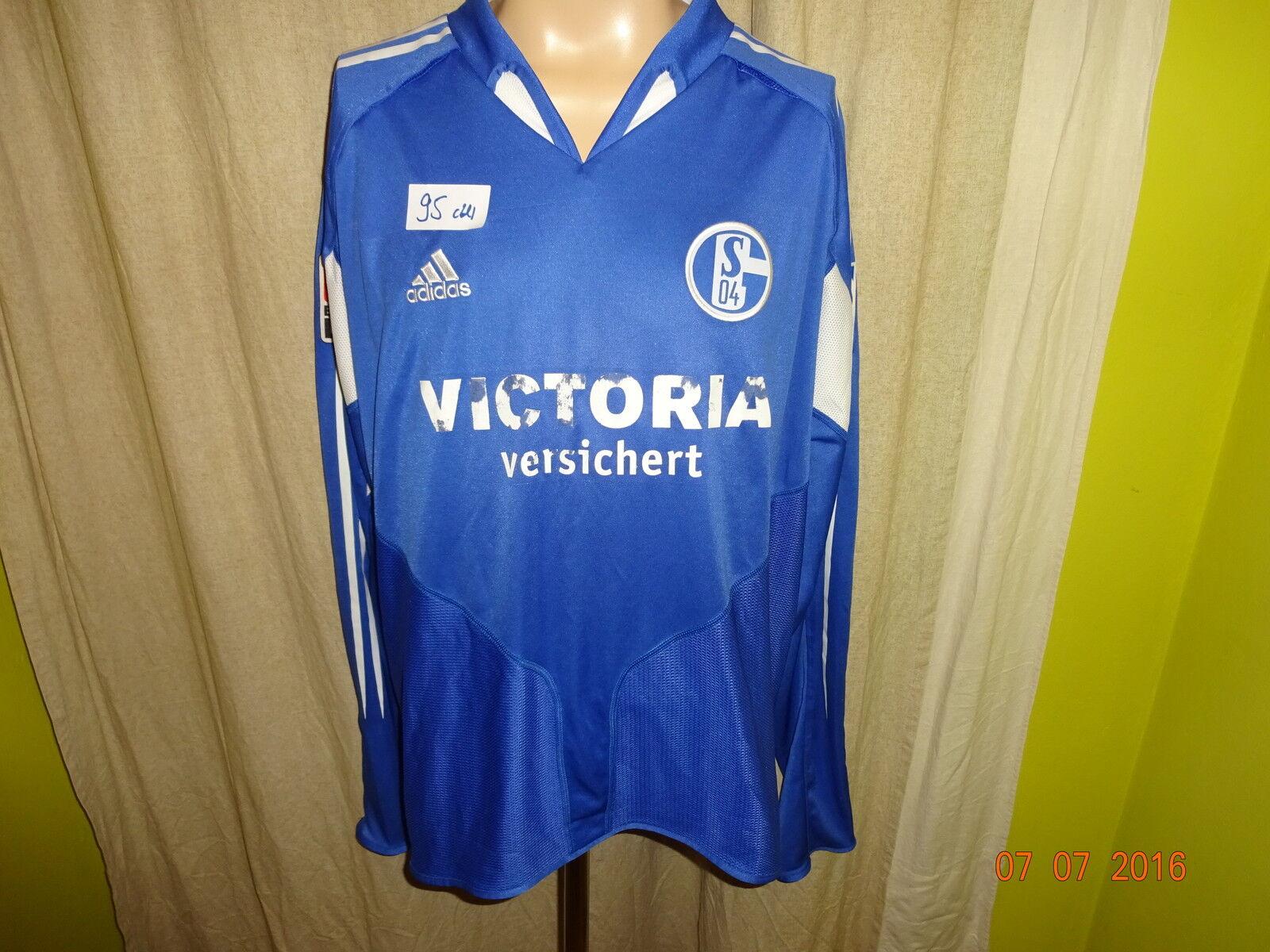FC Schalke 04 04 04 Adidas Langarm Matchworn Trikot 2004 05 + Nr.7 Delura Gr.XXL 000dc7