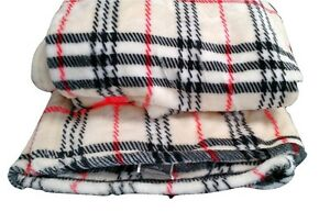 Image Is Loading New Winter Super Soft Ritz Striped Plaid Cream
