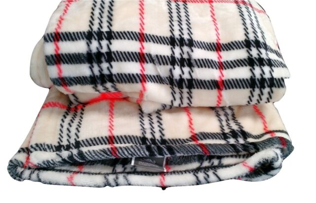 Tache 50x60 Super Soft Plush Ritz Stripe Plaid Flannel Fleece Baby Throw Blanket