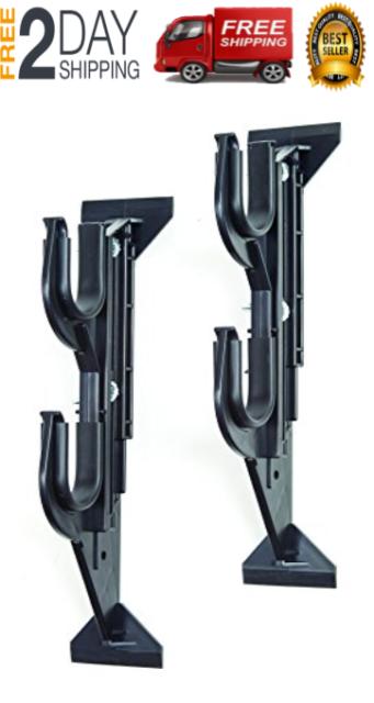 Truck Double Rifle Shotgun Car 2 Gun Holder Hanger Mount Rack Rear Window