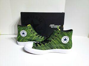 Converse Chuck Taylor All Star 2 Hi Black Volt Green 151086C Mens ... bc719c95b