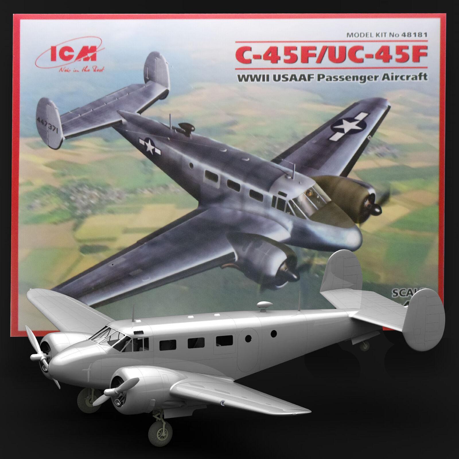 ICM 1 48 BEECHCRAFT C-45F USAAF EXPIDITER  UC45 US NAVY NAVIGATOR KIT