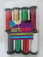 Artiste Metallics 8 Spool Thread Collection - 60 Holiday Spirits