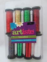 Artiste Metallics 8 Spool Thread Collection - 60 Holiday Spirits