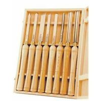Wood Lathe Chisels Box Set Gouge Skew Woodworking Turning Tools Carving Handles
