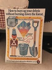 HOW TO BURN UP YOUR DEBRIS WITHOUT BURNING DOWN THE FOREST SMOKEY THE BEAR POST