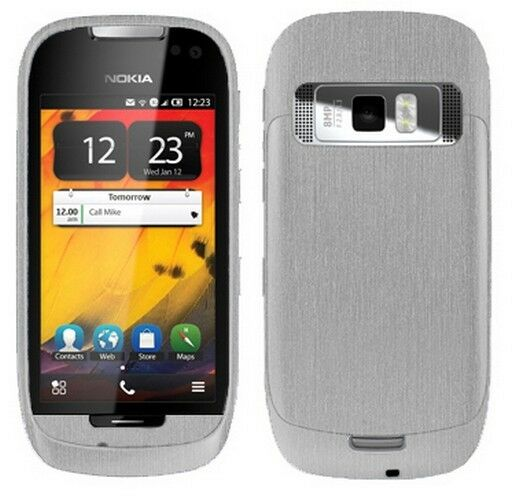 reputable site 46aa7 2060a Skinomi Brushed Aluminum Phone Full Body Cover Screen Protector for Nokia  701