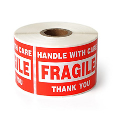 Fragile 2x3 Handle With Care Shipping Stickers 500 Labels Per Roll
