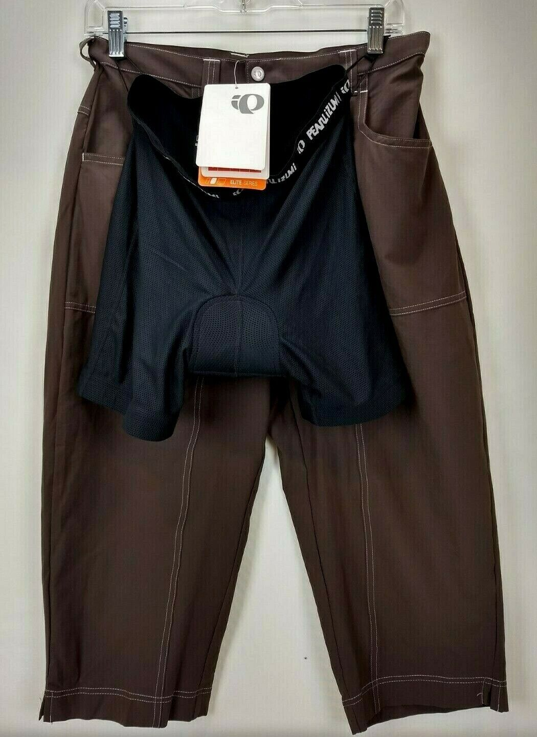 Pearl Izumi Womens Elite Versa Capri Cycling Pants Size Medium Brown With Liner