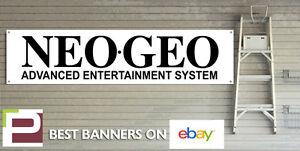 NEO GEO Banner for GARAGE WORKSHOP or Man Cave Vintage Gaming Banner