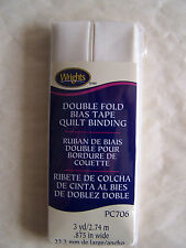 Wrights Double Fold Bias Tape Quilt Binding Pc706 0028 Oyster | eBay : bias tape quilt binding - Adamdwight.com