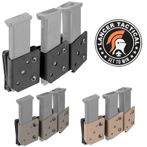 Lancer Tactical IPSC Single Stack Competition Triple Pistol Magazine Pouch