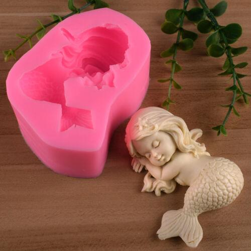 3D Meerjungfrau Kuchenform Zucker Kleber Mörtel Form Praline Kuchen DecoraW WCY