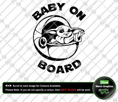 STAR WARS Baby Yoda Car Van Funny JDM Cute The Mandalorian Sticker Vinyl Decal