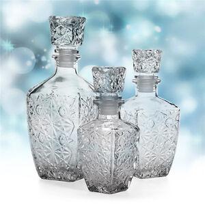 Glass Whiskey Liquor Wine Drinks Decanter Crystal Bottle Wine Gift 200ml