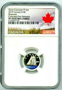 2019-CANADA-10-CENT-SILVER-COLORED-PROOF-NGC-PF70-UCAM-DIME-FIRST-RELEASES-RARE