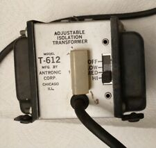 Model T 612 Adjustable Isolation Transformer By Antronic Corp