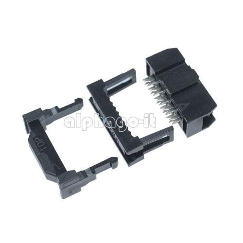 10PCS FC-10 2.54mm Pitch 2x5 Pin 10 Pin IDC FC Female Header Socket Connector