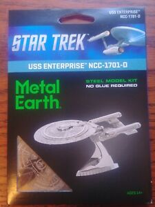 Science Fiction Fascinations Metal Earth Star Trek USS ENTERPRISE NCC-1701-D Steel Model Kit New Star Trek