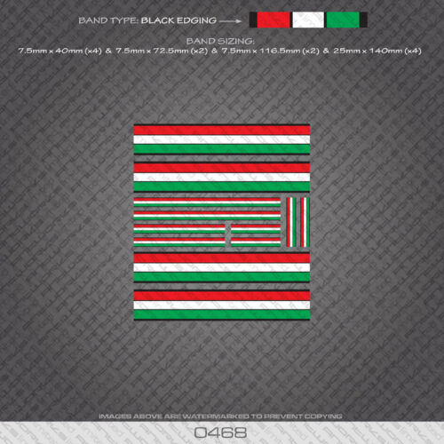 Gold Edges 0468 Italian Separation Stripes Bands Bicycle Decals Stickers