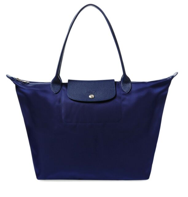 ee9bf6231 100 Authentic Longchamp Le Pliage Neo Large Shoulder Tote Bag Navy ...