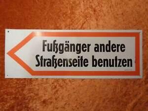DDR-Signograph-Aviso-Signo-De-Peatonal-Otros-Strasenseite-Utilizar-59-5cm