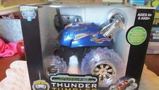 NEW BLUE HAT THUNDER TUMBLER RADIO CONTROL 360 RALLY CAR 27MHZ STUNTS LED LIGHTS