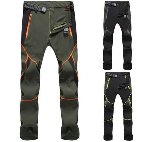 Men/'s Waterproof Tactical Cargo Pants Outdoor Hiking Climbing Trousers Quick Dry