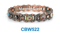 Cloisonné Women Copper Link High Power Magnetic Bracelet Cbw522