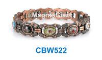 Cloisonné Women Copper Link High Power Magnetic Bracelet Cbw522