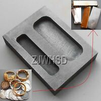 1/2 1 Oz Silver Graphite Ingot Bar Combo Mold Melting Casting Refining Scrap