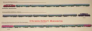 Vente Professionnelle Esu H0 Train-sets De V 200/br 220, Br 94, E 94 + Chacune 4 Eilzug Voiture Ep. Iii Iv Ii-afficher Le Titre D'origine Belle Et Charmante