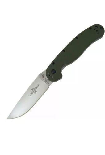 8849OD New Ontario RAT Model 1 Folder KnifeOD Green HandleSatin Finish