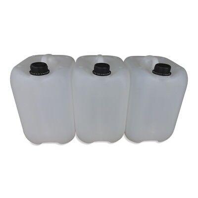 5 x 10 Liter 10 L Trinkwasserkanister Kunststoffkanister dicht natur Neu DIN45