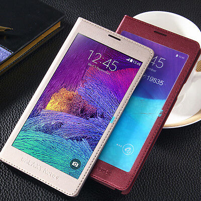 New Full Screen Flip PU Leather Phone Case Cover for Samsung Galaxy Note 4