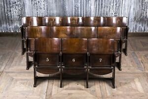 Sensational Details About Cinema Seats Wooden Theatre Chairs Up To 5 Seat Vintage Folding Cinema Benches Onthecornerstone Fun Painted Chair Ideas Images Onthecornerstoneorg