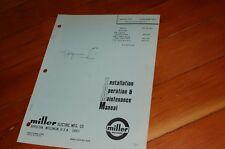 Miller Welder Mhg 20k Mig Gun Spare Owner Operator Operation Maintenance Manual
