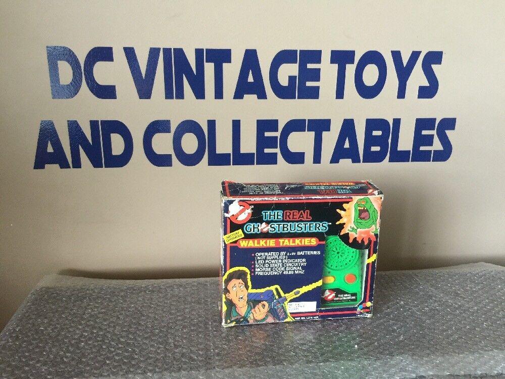 Vintage 1984 The Real Ghostbusters Walkie Talkies Slimer Green Ghost RARE LOOK