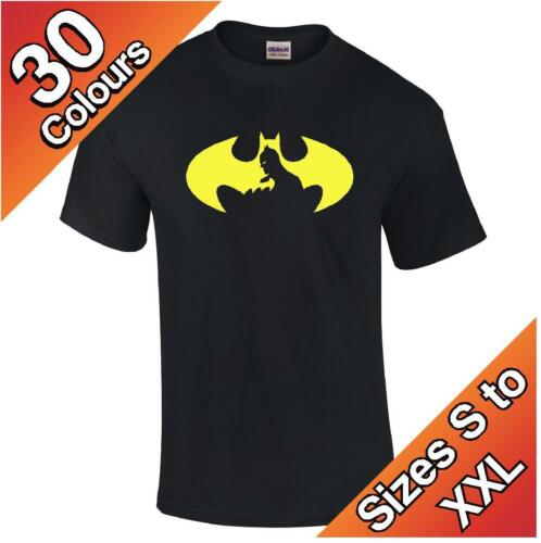 Super Hero logo S to XXL Batman T-Shirt available in 30 colours