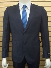Men's Charcoal Gray Nailshead 2 Button Slim Fit Suit SIZE 40S NEW