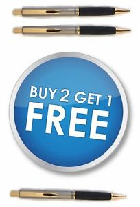 *Buy 2, Get 1 FREE* NEW PAPERMATE SILHOUETTE Champagne-Gold Trim Ballpoint Pens
