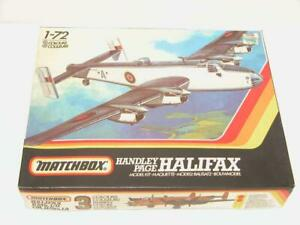 1-72-Matchbox-Handley-Page-HALIFAX-WW2-RAF-Plastic-Scale-Model-Kit-Complete-NOS